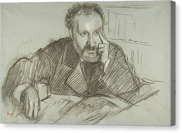 Edmond Duranty Canvas Print by Edgar Degas