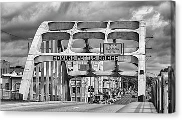 Edmund Pettus Bridge - Selma Canvas Print