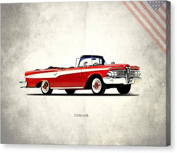 Vintage Car Canvas Print - Edsel Corsair by Mark Rogan
