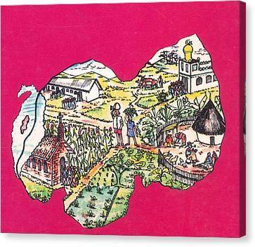 Education Et Citoyennete Au Rwanda Canvas Print