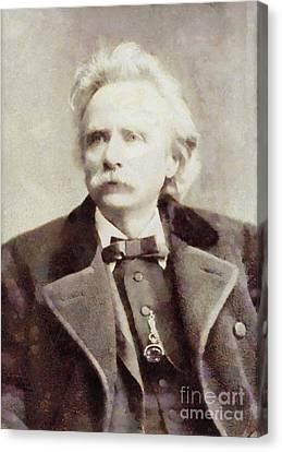 Edvard Grieg, Composer By Sarah Kirk Canvas Print