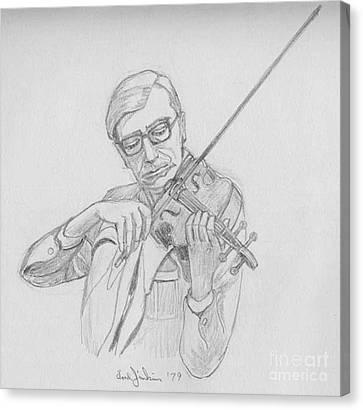 Masterful Canvas Print - Edward Master Violin by Fred Jinkins