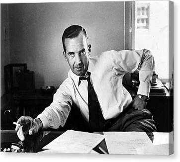 1950s Portraits Canvas Print - Edward R. Murrow, 1954 by Everett