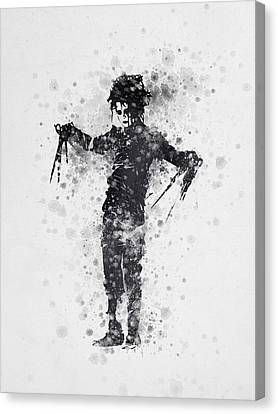 Edward Scissorhands 01 Canvas Print by Aged Pixel