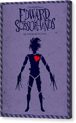 Edward Scissorhands Alternative Poster Canvas Print by Christopher Ables