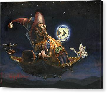 Edwin And Norbert At It Again Canvas Print by Jeff Brimley