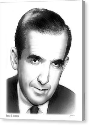 Edwin R. Murrow Canvas Print by Greg Joens