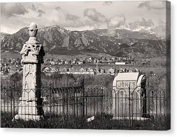 Eerie Cemetery Canvas Print by James BO  Insogna