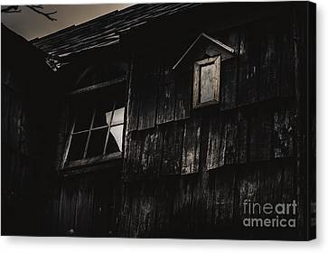 Eerie Vintage Abandoned Home. The Dark Shack Canvas Print by Jorgo Photography - Wall Art Gallery