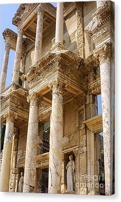 Library Of Celsus Canvas Print - Efes Library Of Celsus by Bob Phillips