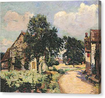 Effect Of The Sun Canvas Print by Jean Baptiste Armand Guillaumin