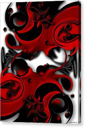 Canvas Print featuring the digital art Effective Form Constructed by Carmen Fine Art