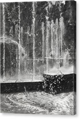 Effervescence Fountain In Milano Italy Canvas Print by Kelly Borsheim
