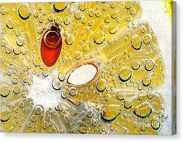 Effervescent Lemon Abstract Canvas Print by Kaye Menner