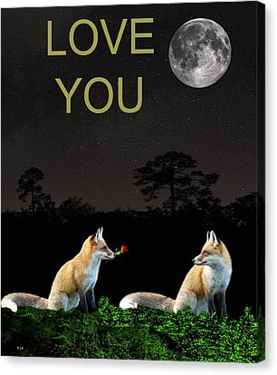 Eftalou Foxes Love You Canvas Print by Eric Kempson