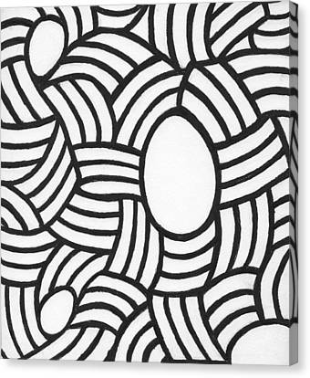 Egg Drawing Mm0308 Canvas Print