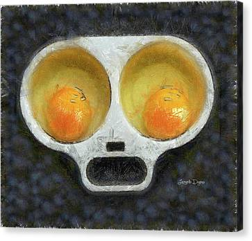 Egg Face Canvas Print by Leonardo Digenio