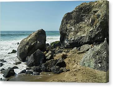 Egg Shaped Coastal Rock Canvas Print