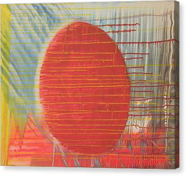 Egg Shaped Red Orb Canvas Print by James Howard