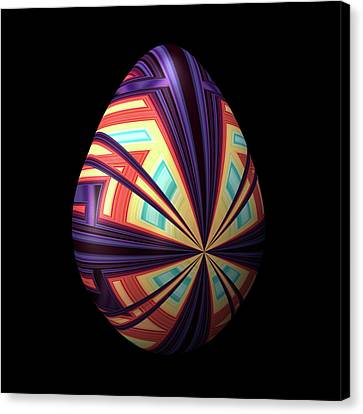 Egg With Convergent Lines Canvas Print