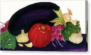 Eggplant Casserole Canvas Print
