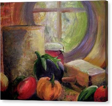 Eggplant In The Window Canvas Print