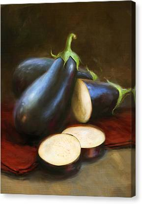 Cook Canvas Print - Eggplants by Robert Papp