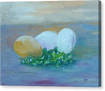Eggs And Capers Canvas Print by Conor Murphy