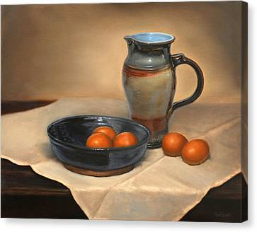 Eggs And Pitcher Canvas Print