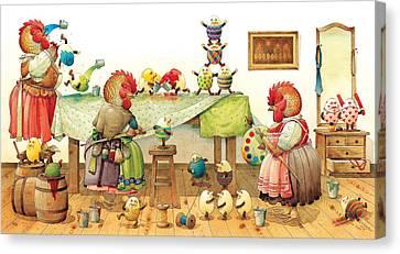 Eggs Dyeing Canvas Print by Kestutis Kasparavicius