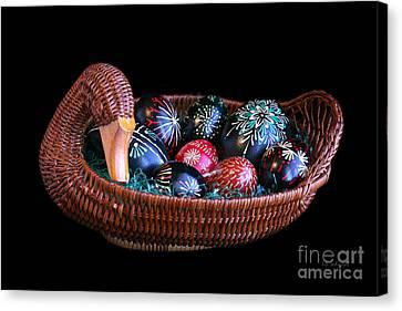 Eggs In A Goose Basket Canvas Print by E B Schmidt
