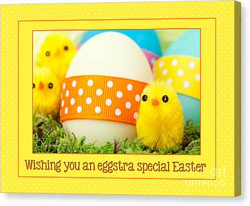 Canvas Print featuring the digital art Eggstra Special Easter by JH Designs