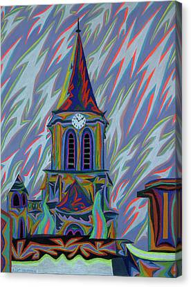 Eglise Onze - Onze Canvas Print by Robert SORENSEN