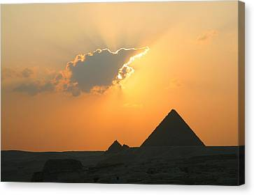 Egpytian Sunset Behind Cloud Canvas Print