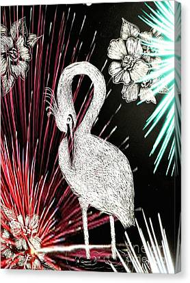 Egret 16-02d Canvas Print by Maria Urso