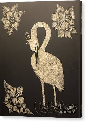 Egret Canvas Print by Maria Urso