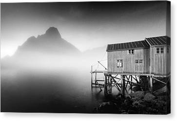 Egulfed By Mist Canvas Print by Alex Conu