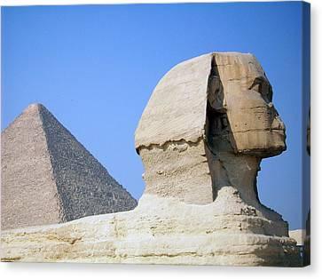 Egypt - Pyramids Abu Alhaul Canvas Print by Munir Alawi