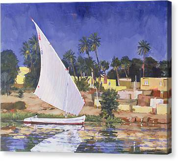 Rectangle Canvas Print - Egypt Blue by Clive Metcalfe