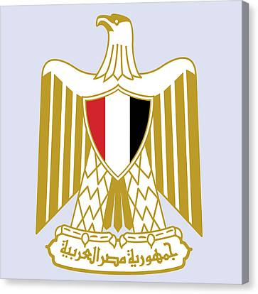 Canvas Print featuring the drawing Egypt Coat Of Arms by Movie Poster Prints
