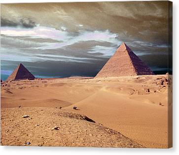 Egypt Eyes Canvas Print by Munir Alawi