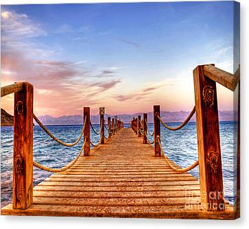 Egypt Red Sea Sunset Canvas Print