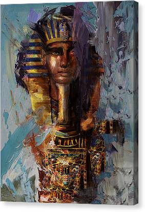 Egyptian Culture 37 Canvas Print by Maryam Mughal