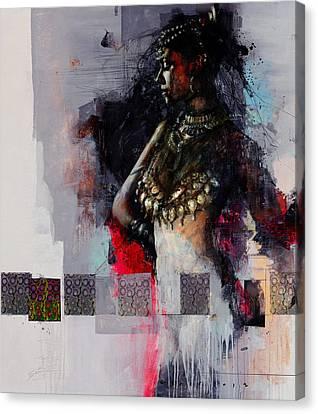 Egyptian Culture 80b Canvas Print by Maryam Mughal