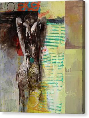 Egyptian Culture 85b Canvas Print by Maryam Mughal