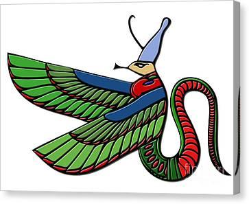 Egyptian Demon Canvas Print by Michal Boubin
