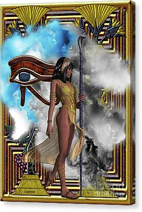 Egyptian Echoes Of Time Canvas Print by Corey Ford