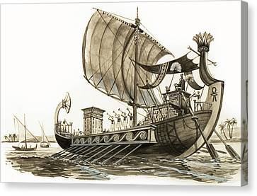 Ancient Egyptian Canvas Print - Egyptian Galley by Peter Jackson