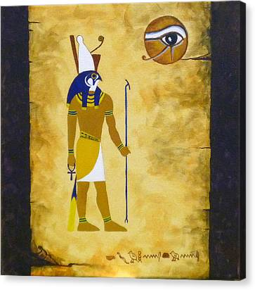 Egyptian God Horus Canvas Print by Craig Johnstone