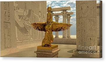 Egyptian Isis Statue Canvas Print